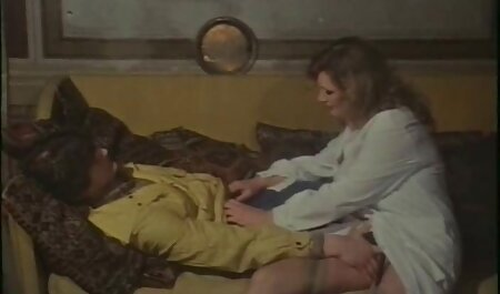 Red and brunette fuck with a retro cumshots man
